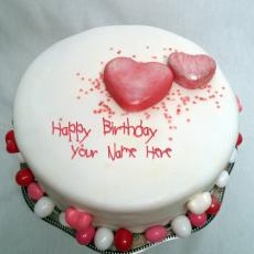 Specialty Heart Birthday Cake - Design your own names