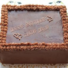 Square Chocolate Cake - Design your own names