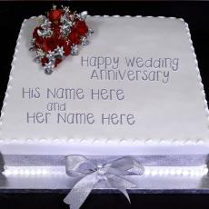 Anniversary Cakes name pictures - Wedding Anniversary Cake