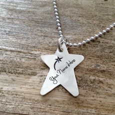Wish Star Necklace - Design your own names