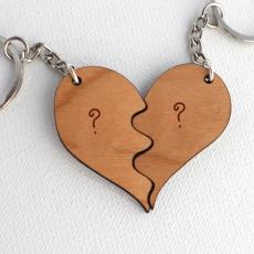 Wooden Heart - Design your own names