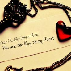 You are the key to my heart - Design your own names