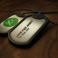 Jewelry name pictures - Pak Army Dogtag