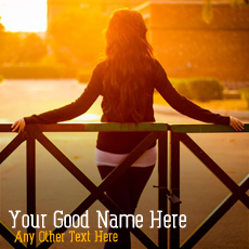 Sunset Alone Girl - Design your own names