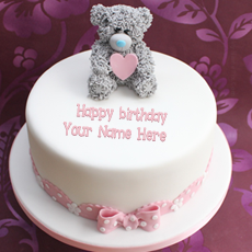 Birthday Cakes name pictures - Teddy Birthday Cake