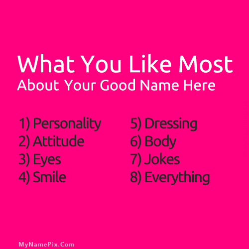 Design your own names of About Me