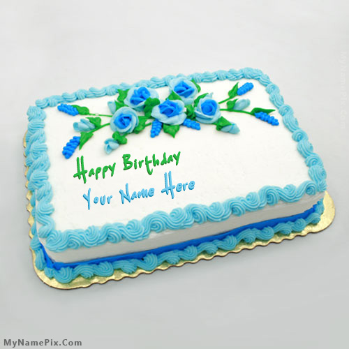 Design your own names of Birthday Flowers Cake