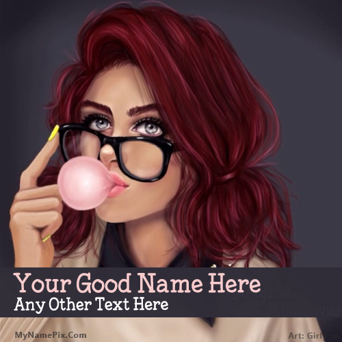 Design your own names of Bubble Girl Drawing