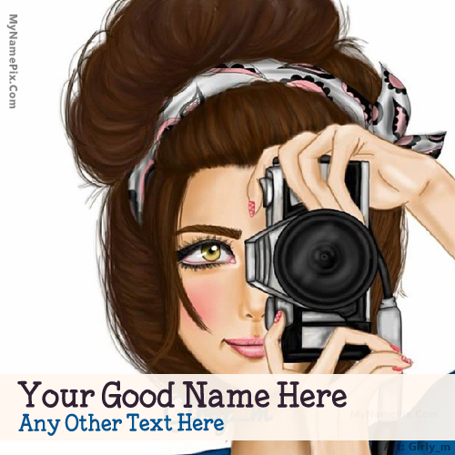 Design your own names of Camera Girl Drawing