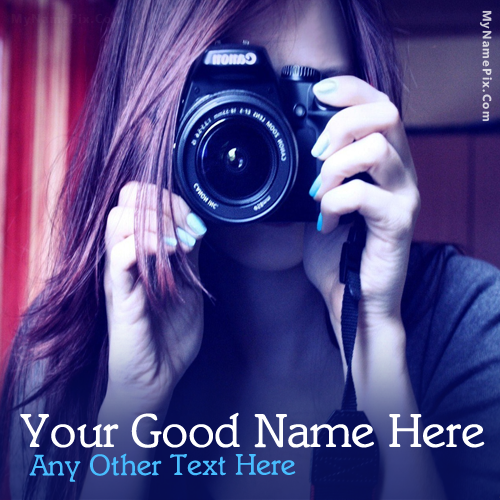 Design your own names of Camera Girl