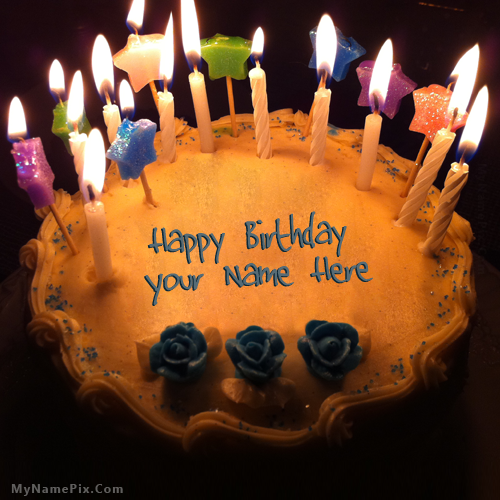 Design your own names of Candles Birthday Cake