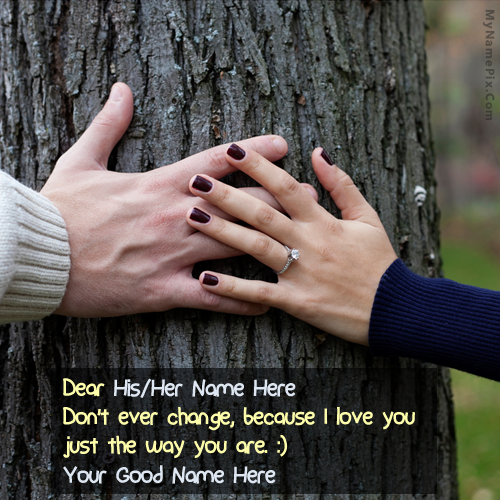 Design your own names of Couple Hands