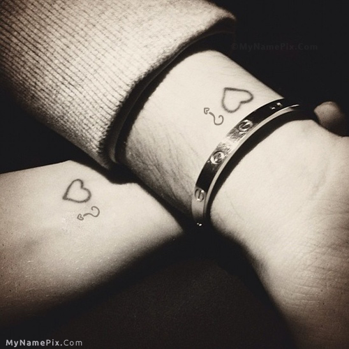 Design your own names of Couple Tattoo