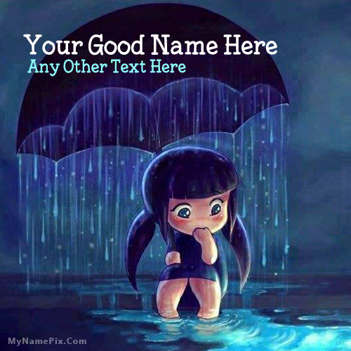 Design your own names of Cute Girl in Rain