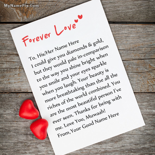 Design your own names of Forever Love Note