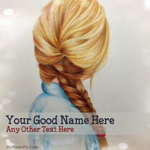 Design your own names of Girl Braid Drawing