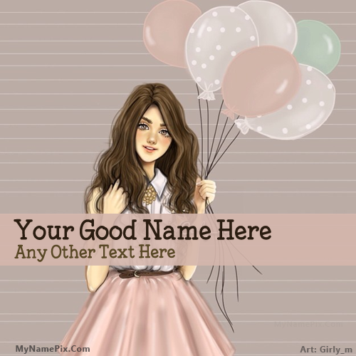 Design your own names of Girl With Baloons