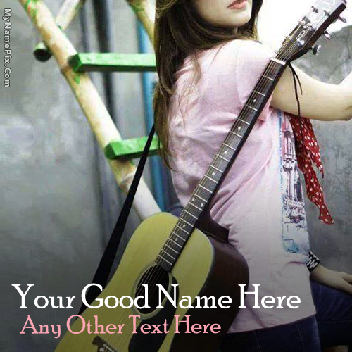 Design your own names of Guitar Girl