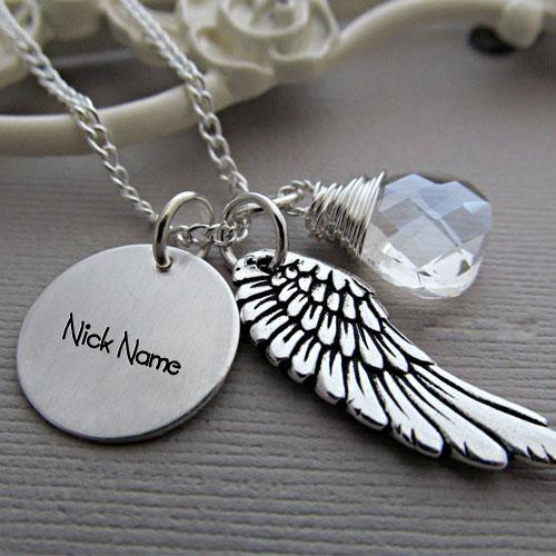 Design your own names of Angel Wing Necklace