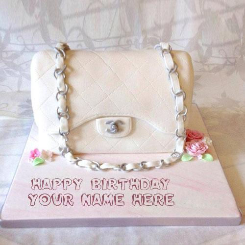 Design your own names of Bag Girly Cake