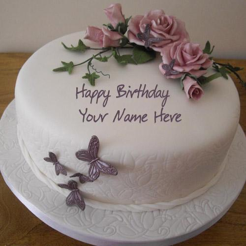 Design your own names of Birthday Flower Cake