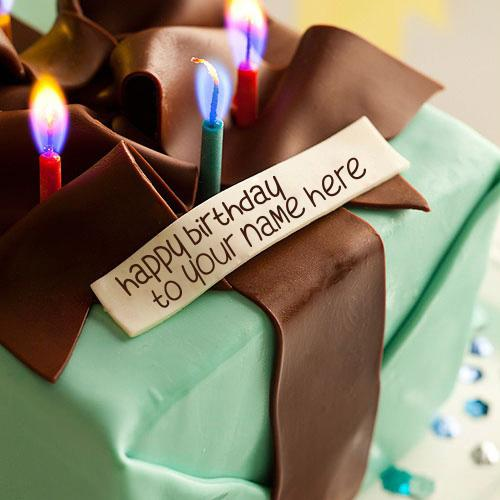Design your own names of Birthday Gift Cake