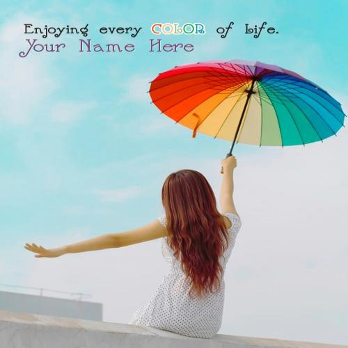 Design your own names of Enjoying every COLOR of life