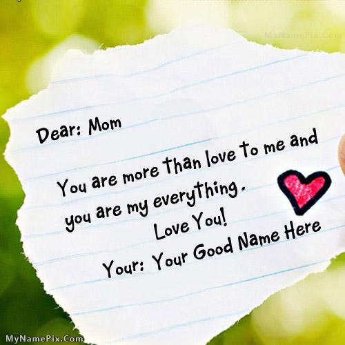 Design your own names of Happy Mothers Day