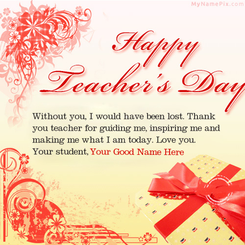 Happy teachers day wish name picture teachers day name generator design your own names of happy teachers day wish spiritdancerdesigns Images