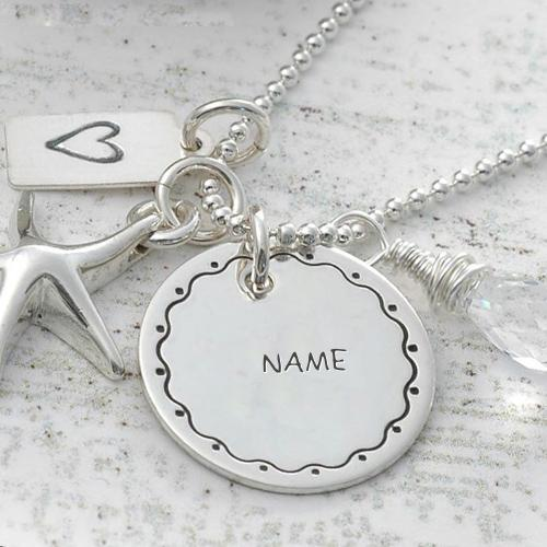 Design your own names of Nick Name Silver Pendant