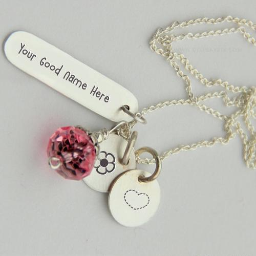 Design your own names of Silver Charming Necklace