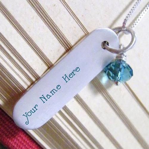 Design your own names of Silver Lovely Pendant