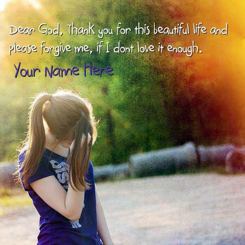 Design your own names of Thank You For This Life