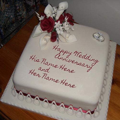 Design your own names of Wedding Anniversary Cake