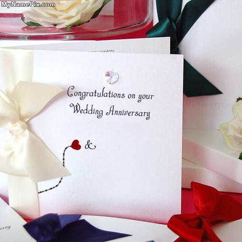 Design your own names of Wedding Anniversary Card