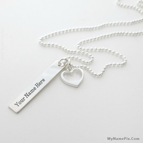 Design your own names of Light Sliver Necklace