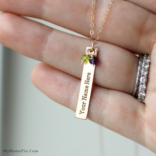 Design your own names of Pendant in hand