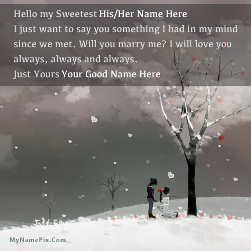 Design your own names of Propose Day Romantic