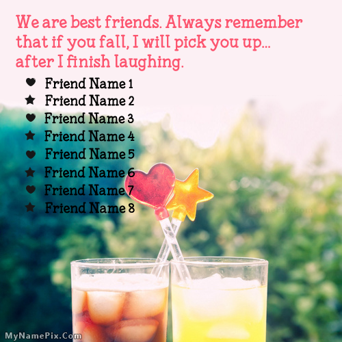 Design your own names of Remember Friends