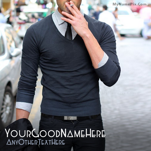 Design your own names of Stylish Guy Smoking