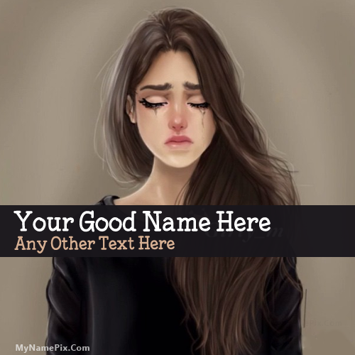 Design your own names of Sweet Girl Crying
