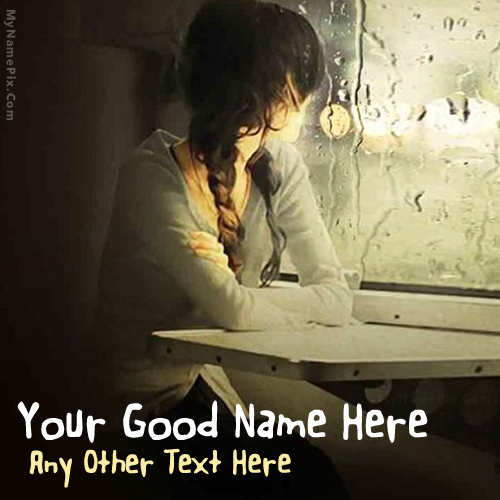 Design your own names of Window Girl Waiting